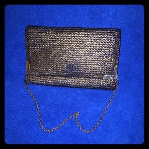 Black and gold clutch/baguette